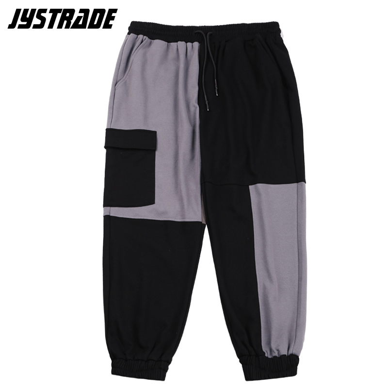 oversized men's multi pocket cargo pants cotton sweatpants hip hop baggy track sports pants streetwear casual trousers joggers