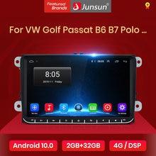 Junsun Car Radio multimedia V1 Pro con GPS para coche, radio con reproductor, Android 10.0, 2 Din, DVD, 2 GB + 32 GB, DSP, Carplay para Volkswagen, VW, Passat B6, Touran, GOLF5, POLO, Jetta
