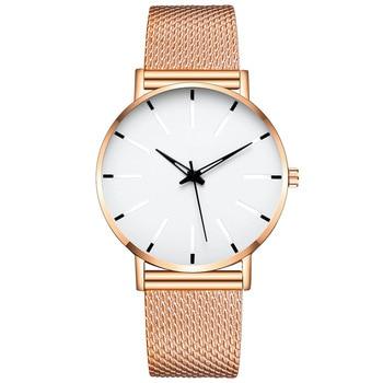2020 Fashion Watches Men's Mesh Belt Ultra-Thin Quartz Watch Business Simple Casual Wristwatch Clock Gifts Relogio Masculino 2