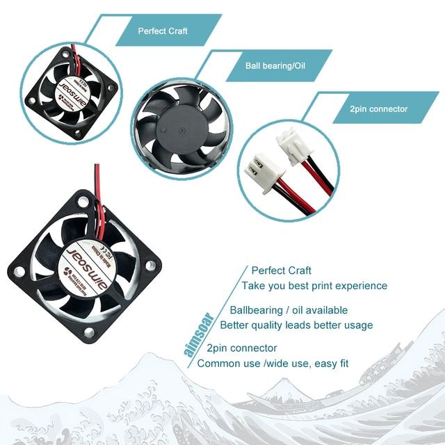 4010 fan 12v 24v ender 3 fan 40mm fan 2 pin oil fan dual ball bearing  cooler cooling fan 3d printer parts 4010 40*40*10mm
