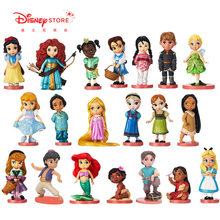 11 pçs/pçs/set disney princesas artigos de mobiliário de mesa figuras de ação brinquedos modelo branco neve cinderela decoração crianças presente
