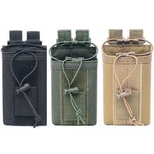 Outdoor Hunting Pouch Tactical Sports Walkie talkie carry bag for Motorola two way radio(China)