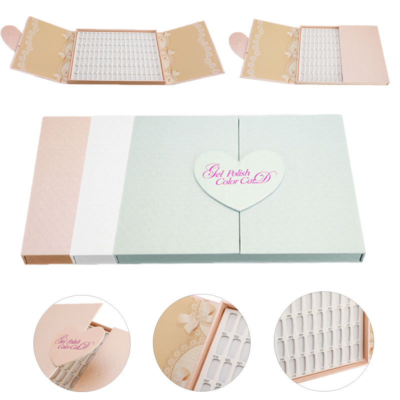 126 Tips Nail Display Book Polish Display Manicure Nail Color Board Card Palette Chart Practice Showing Shelf Nail Art Tool
