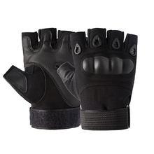 Guantes tácticos sin dedos, manoplas protectoras de medio dedo para conducción, guantes duros de combate del Ejército, antideslizantes