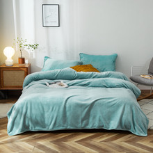 Spring Summer Coral Fleece Blanket Flannel Bedspreads Soft  Bed mattress cover Can add pillowcases Portable camping travel
