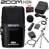 Originele Zoom H2N Handy Voice Recorder with Kingston 16GB SD Card 5 Built In Microphone for Recording Music Video Interviews