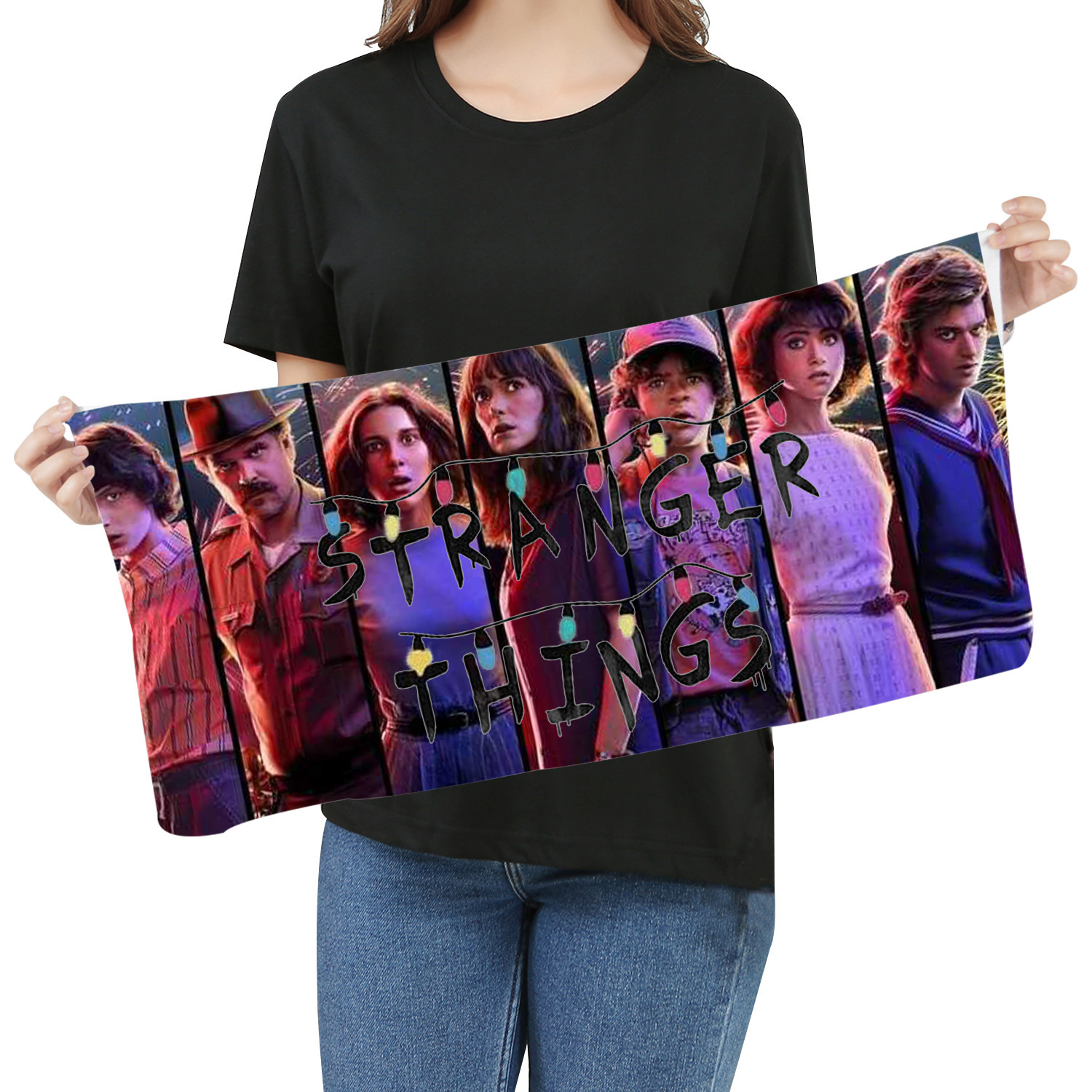 Stranger Things Towel Fans Respond To Aid Periphery Towel Wash One's Face A Piece Of Cloth Exceed Fine Fiber Banner Towel