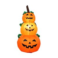 For Halloween 1.2m LED Inflatable Pumpkin Ghost Light Outdoor Yard Home DIY Decoration Inflatable Pumpkin Light Party Supplies