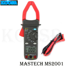 MASTECH MS2001 цифровой AC клещи 1000A AC/DC Вольтметр Амперметр Омметр тестер W/ЖК-подсветка Мегаомметр