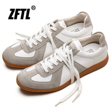 Sneakers Loafers Training-Shoes Genuine-Leather German Male Men's New Lace-Up ZFTL Vintage