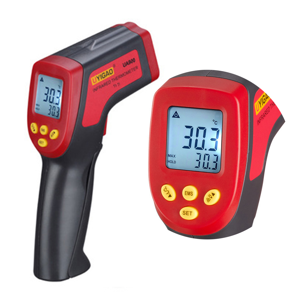 -32~950C Digital Infrared IR Thermometer 12:1 Handheld Temperature Tester Pyrometer With Backlight Adjustable Emissivity