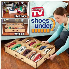 Hot selling 12 grid Non-woven fabric plastic transparent storage dustproof moisture-proof mildew bedroom shoe box organizer
