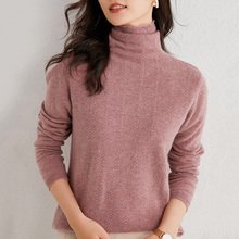 Winter Women Sweater Super Warm Cashmere Turtleneck Knitted Pullovers Loose Soft Female Long Sleeve Solid Color Jumper S-XXL