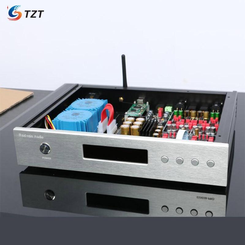 TZT HIFI Audio DAC Decoder Dual ES9038PRO Decoder Balanced DAC Earphone Bluetooth 5.0 Optical Fiber Decoding