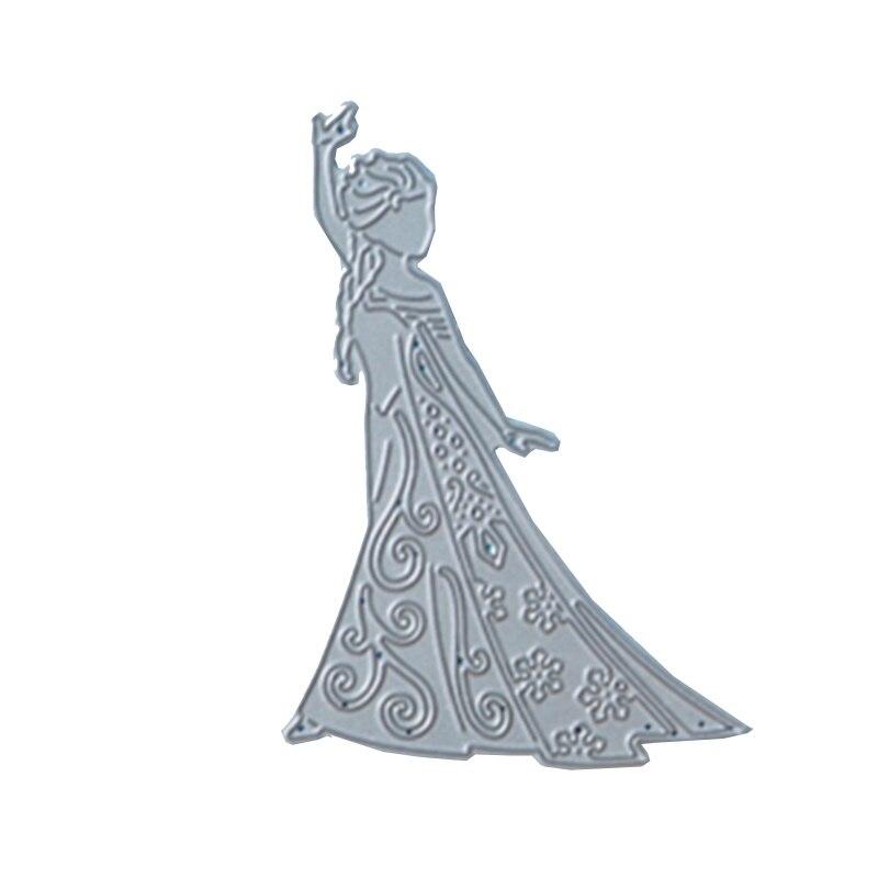 Metal Cutting Dies beautiful Princess in Snow cut die for DIY Scrapbooking Crafts new 2019 Embossing Die Cuts in Cutting Dies from Home Garden