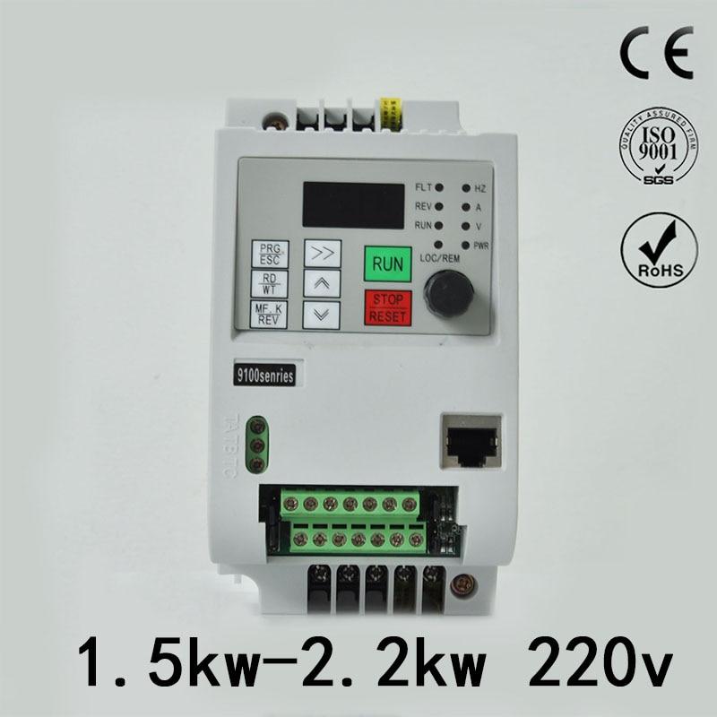 220 В частотно-регулируемым приводом 1.5kw 2.2kw одиночной фазы инвертор частотно-регулируемым приводом 2hp3hp преобразователь частоты преобразова...