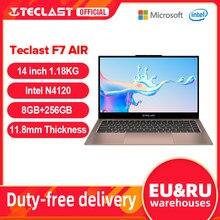 Teclast – F7 Air pc portable Ultra-fin 14 pouces, Windows 10, processeur Intel N4120, 8 go de LPDDR4, SSD de 256 go, écran full hd 1920x1080, 1.18KG, 180 °
