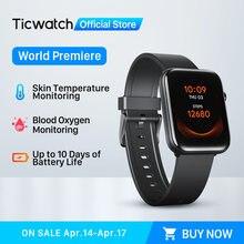 [World premiere] ticwatch gth fitness smartwatch homem/mulher monitor de temperatura da pele oxigênio sono rastreamento natação à prova dwaterproof água
