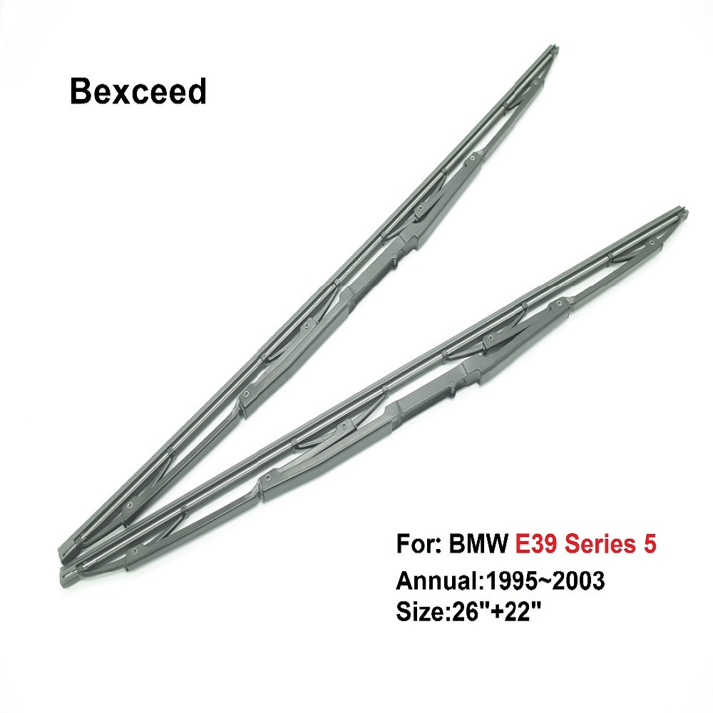 """For BMW E39 Series 5 26""""+22"""" Bexceed of Car Windshield windscreen rubber wiper blade 1996 1997 1998 1999 2000 2001 2002 2003 wiper blade wiper blade bmw e39 e39 wiper blades - title="""