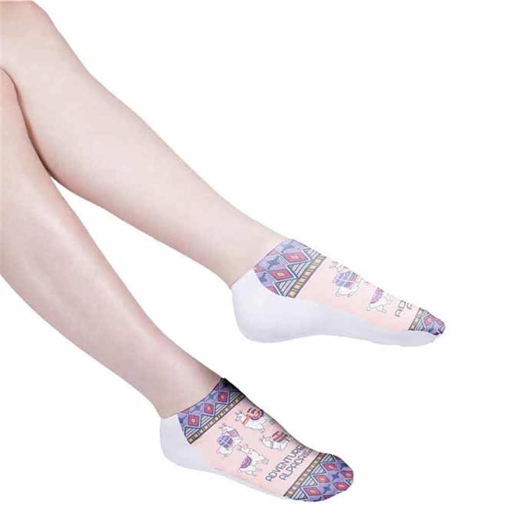 3D Dijital Baskı Alpaka Kadın Çorap Yetişkin Görünmez Çorap Sihirli Çorap носки женские popsocket terlik çorap