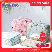 Sunveno Fashion Wet Tasche Wasserdichte Windel Tasche Waschbar Tuch Windel Baby Tasche Wiederverwendbare Nassen Taschen 23x18cm Veranstalter für Mama