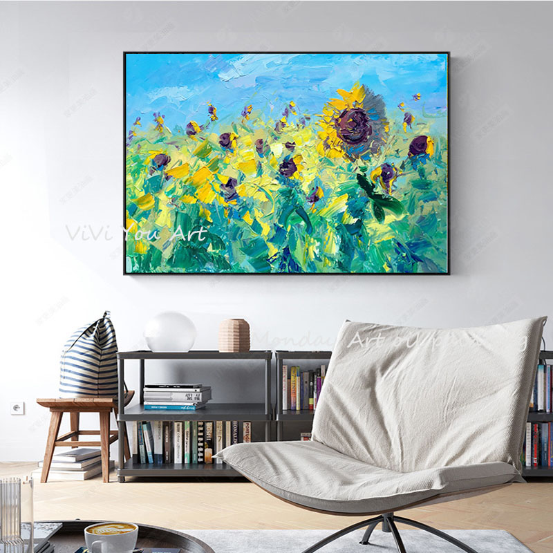 100-Hand-Painted-Abstract-Sunflowers-Art-Painting-On-Canvas-Wall-Art-Wall-Adornment-Pictures-Painting-For (4)