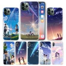 Anime seu nome kimi sem na wa caso para apple iphone 12 11 pro xs max xr x 7 8 6s mais 5 se 5S capa de plástico duro coque telefone