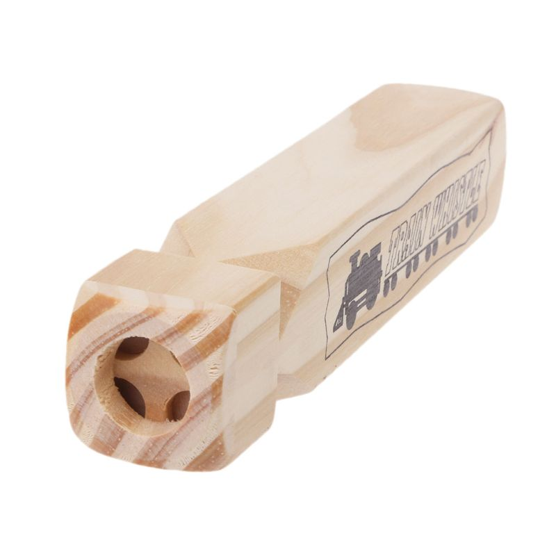 Novelty Wooden Train Whistles Kids Party Favors Bulk Toys Noisemakers Baby Toy X5XE