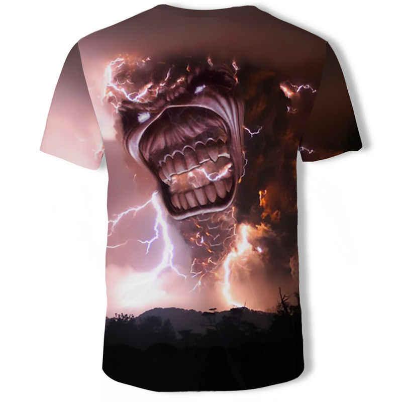 AC DC di Musica Heavy Metal Freddo Classic Rock Band della testa Del Cranio T-Shirt di Moda Rocksir T Degli Uomini Della Camicia 3D T-Shirt DJ maglietta degli uomini Della Camicia