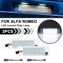 2X LEDจำนวนใบอนุญาตไฟโคมไฟสำหรับAlfa Romeo 147 156 159 166 Giulietta Mito GT Spider MiTo Fiat multipla Grande Punto