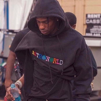 2020 New embroidery Travis Scott Astroworld WISH YOU WERE HERE Unisex Pullover Hoodie and Sweatshirt