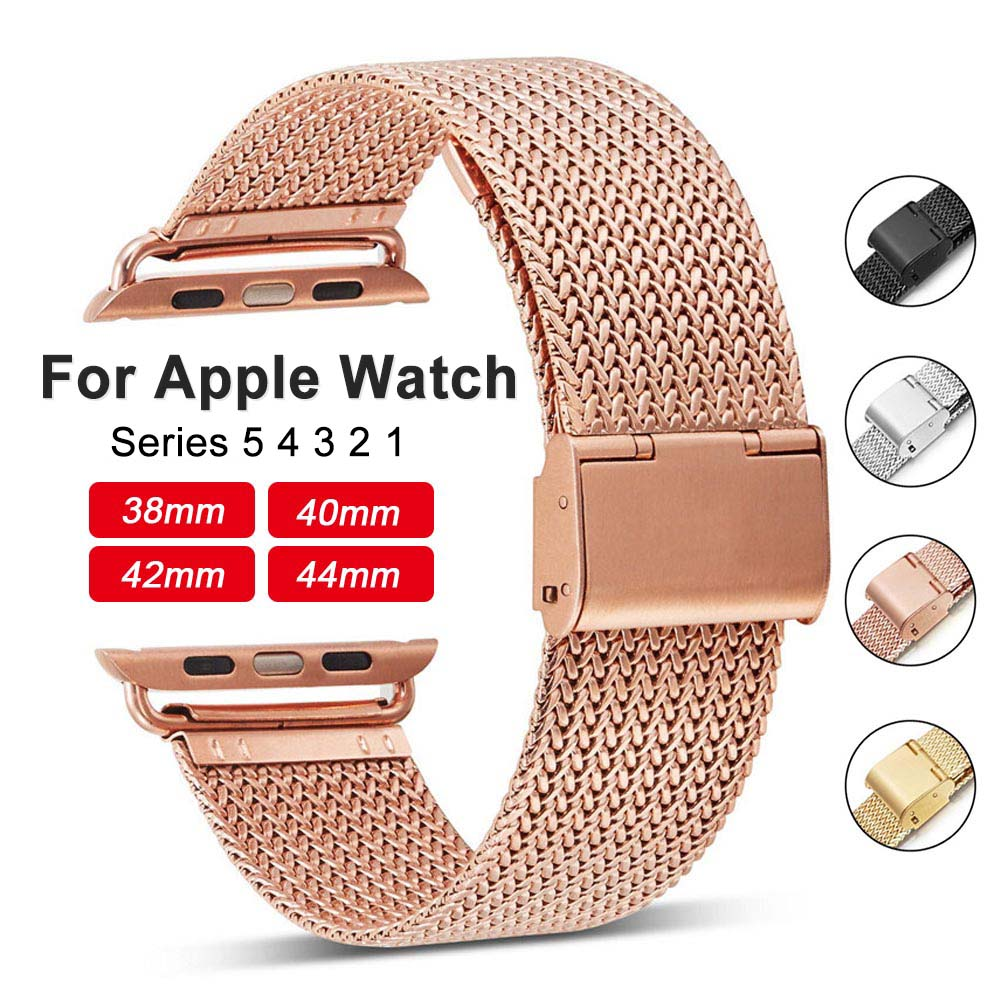 Stainless Steel Woven Sport Watchband For Apple Watch Series 5/4/3/2 Watch Strap For IWatch Band 38mm/42mm/40mm/44mm