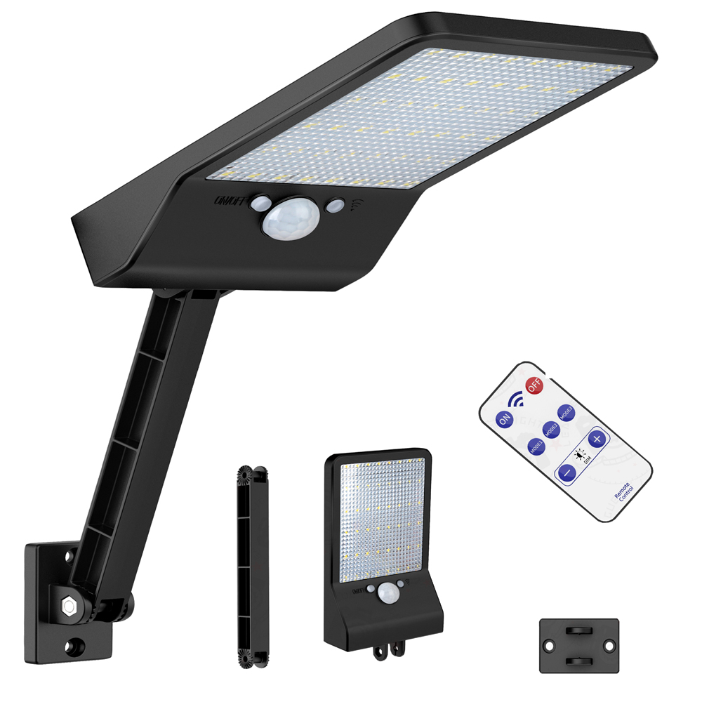 Solar Lamp 48 LED 800 LM  Street Light Radar Duction PIR Motion Sensor Outdoor IP65 Waterproof For Wall Garden Walkway Spot
