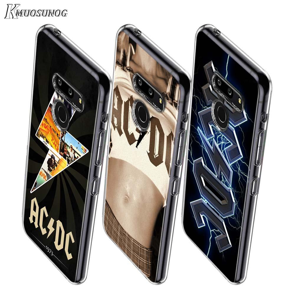 AC DC Poster Music Style For LG W20 W10 V50S V50 V40 V30 K50S K40S K30 K20 Q60 Q8 Q7 Q6 G8 G7 G6 Thinq Phone Case