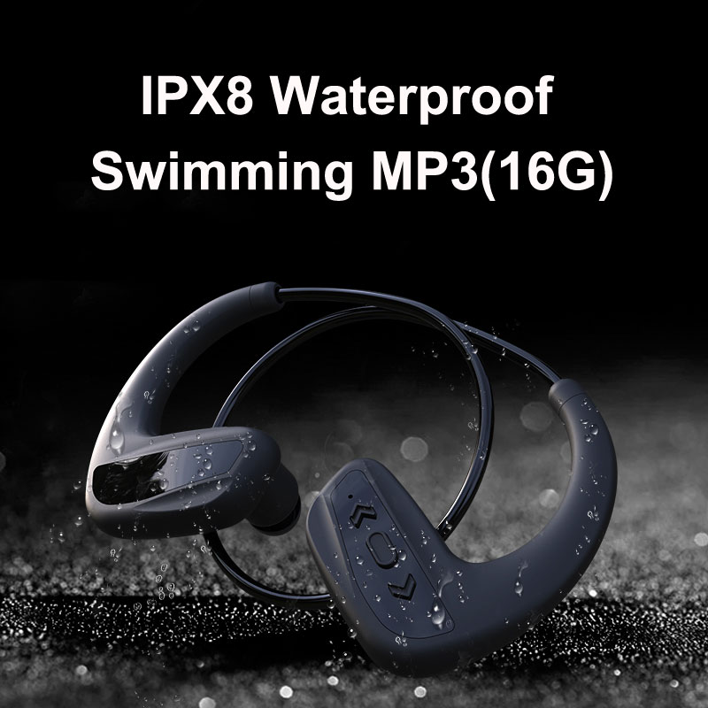IPX8 Waterproof Mp3 Player Swimming Sport Headphone HiFi Music 16G Memory Diving Running Outdoor Earphones for Iphone Xiaomi