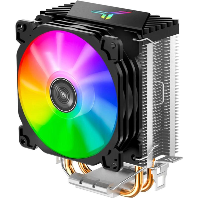 Jonsbo CR1200 <font><b>CPU</b></font> Cooler <font><b>Fan</b></font> RGB 3Pin 2 Heat Pipe Tower Automatic Lighting Cooling <font><b>Fans</b></font> Heatsink for LGA <font><b>775</b></font>/1150/AM4/AM3+/AM3 image
