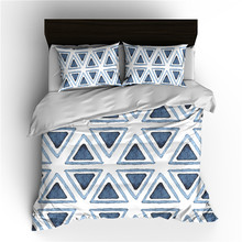 Ms.O Gold 3PCS Duvet Cover Set Geometry Square Triangle Wave Arrow Plaid Check Black and White Watercolor Zig Zag Bedding Set check plaid print duvet cover set