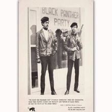 MQ3684 Black Panthers Huey Newton Classic Movie Vintage Film Poster Silk Light Canvas Home Bedroom Decor Wall Picture Printings(China)