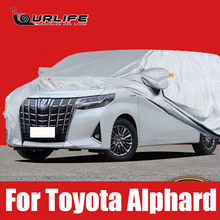 Car Cover Outdoor Sun Anti UV Rain Snow Frost Dust Protection Cover For Toyota Alphard 2016 to 2021 Oxford cloth  Accessories