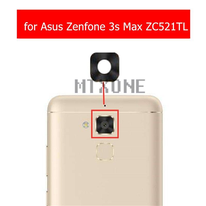 Стеклянные линзы для задней камеры Asus Zenfone 3s Max ZC521TL, стекло для задней камеры с клеем 3M, запасные части для ремонта, 2 шт.
