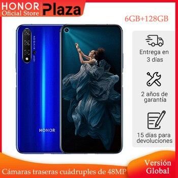 Купить В наличии глобальная версия Honor 20 смартфон 6 ГБ 128 ГБ Kirin 980 6,26 ''48MP четыре камеры мобильного телефона Googling play SuperCharge NFC