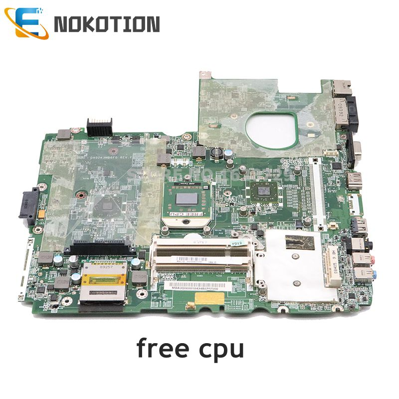 NOKOTION MBAUQ06001 MB.AUQ06.001 Main Board For Acer Aspire 6530G  Motherboard  DA0ZK3MB6F0 Free CPU Works DDR2 FUll Tested