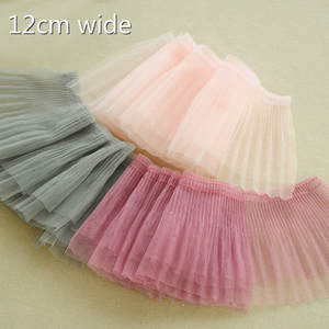 Skirt Clothing Trim Curtains Lace-Fabric Neckline Pleated Fast-Sewing-Production Beautiful