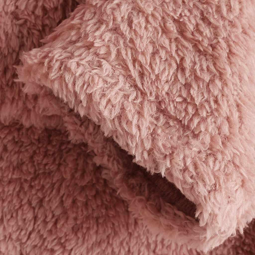 レディース冬ぬいぐるみウォームコートフリース猫刺繍暖かいパーカートッププラスサイズボタン女性ポケット生き抜くロングプルオーバー新