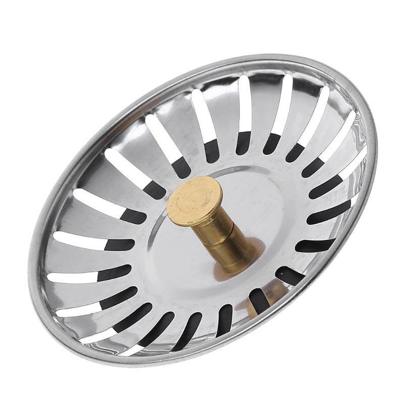 Kitchen Waste Stainless Steel Sink Strainer Plug Drain Filter Stopper Basket Drainer