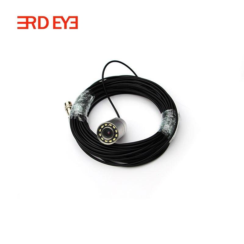 Звездный уровень 0.0001Lux Ночное видение 8-Мощность белый свет Подводные камеры видеонаблюдения Камера - Цвет: 15m cable