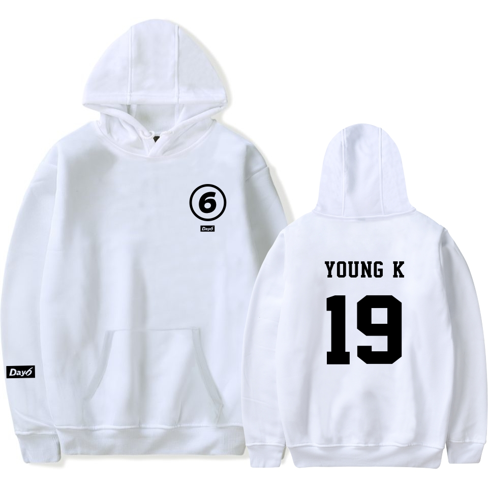 Hot Day6 Hoodie White Fashion Day6 Sweatshirt Casual Pullover Hoodies Sweatshirts Korean Day 6 Fans Support Harajuku Pullover