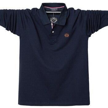 2019 automne hommes Polo chemise coton hommes d'affaires mode Homme Polo à manches longues confortable Polo chemise 5XL marque vêtements