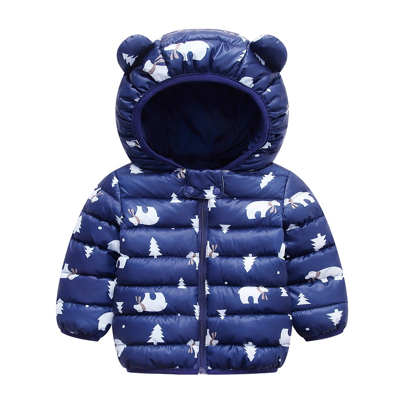 infant boy winter Warm clothes kids baby girls hooded coat Cartoon costume 2020 fashion children Outerwear Clothing cottons 0-5Y 5
