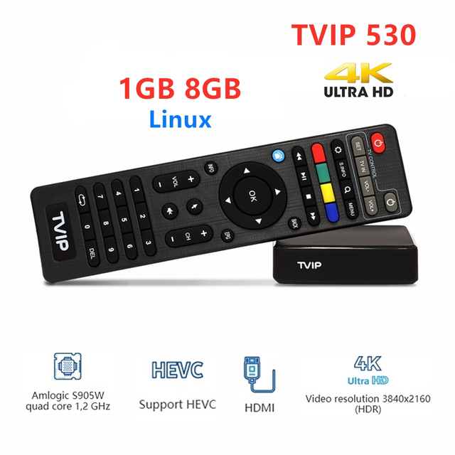 2020 New Linux Tvip530 S Box V.530 Amlogic S905W Quad Core Set Top Box 4K H.265 Tvip 530 PK Tvip 410 Tv Box